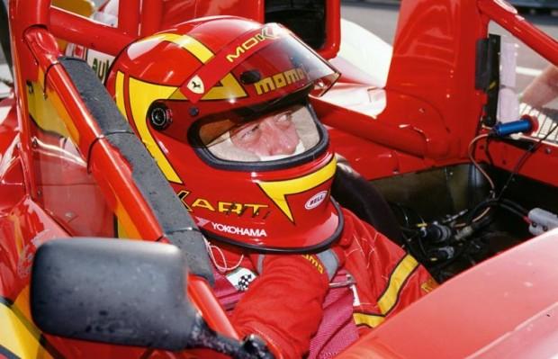 Moretti in winning Ferrari 333 SP.