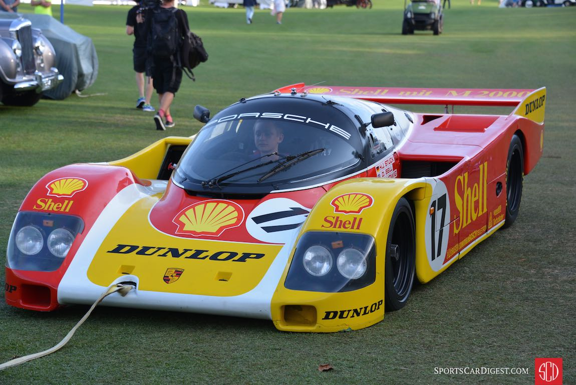 Experienced driver behind wheel of the Shell Porsche 962