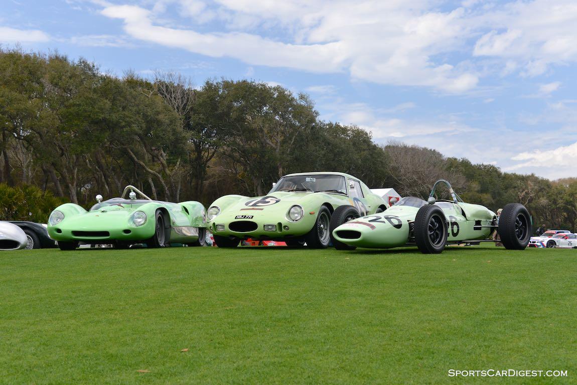 UDT Laystal Lotus 19, Ferrari 250 GTO and Lotus 18/21