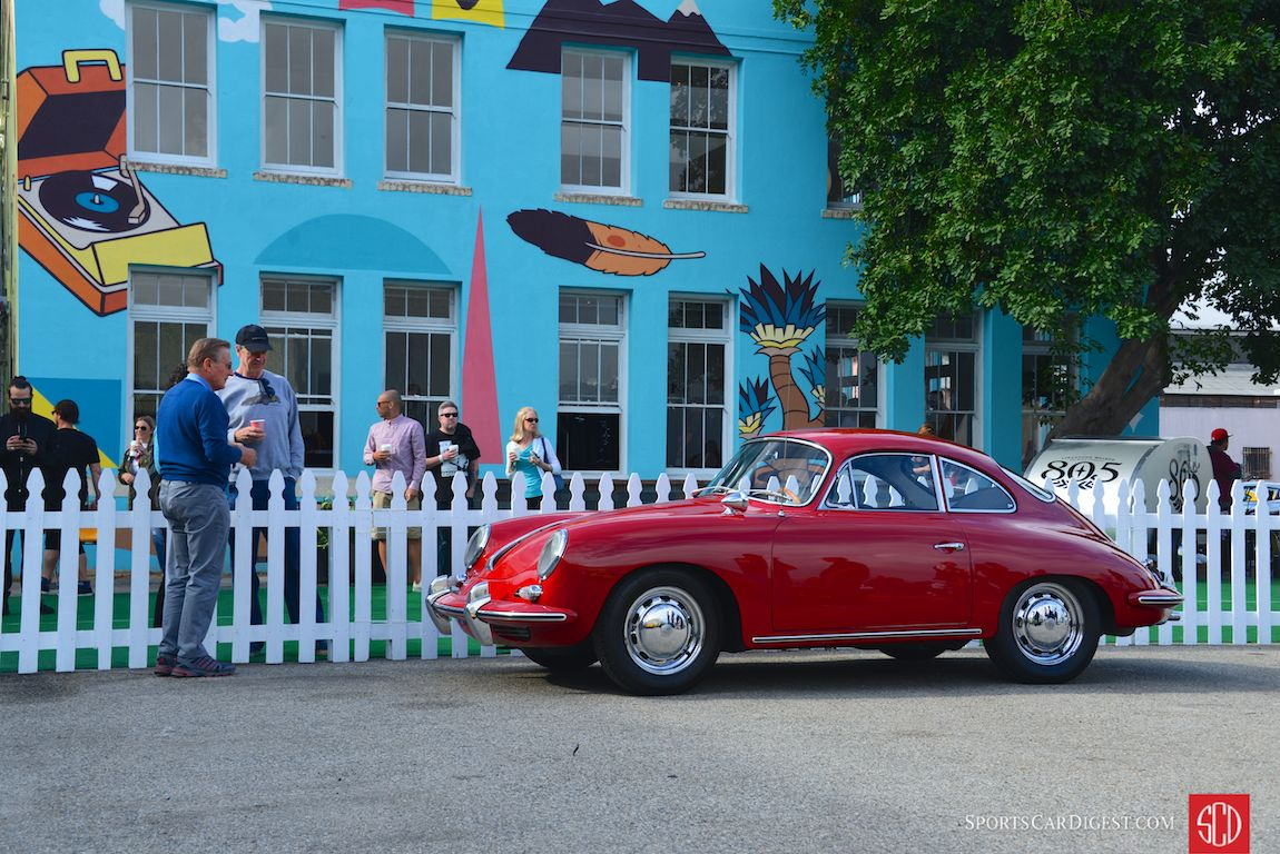 Alwin Springer with his 1964 Porsche 356C Coupe (Photo: Trevor Ely)