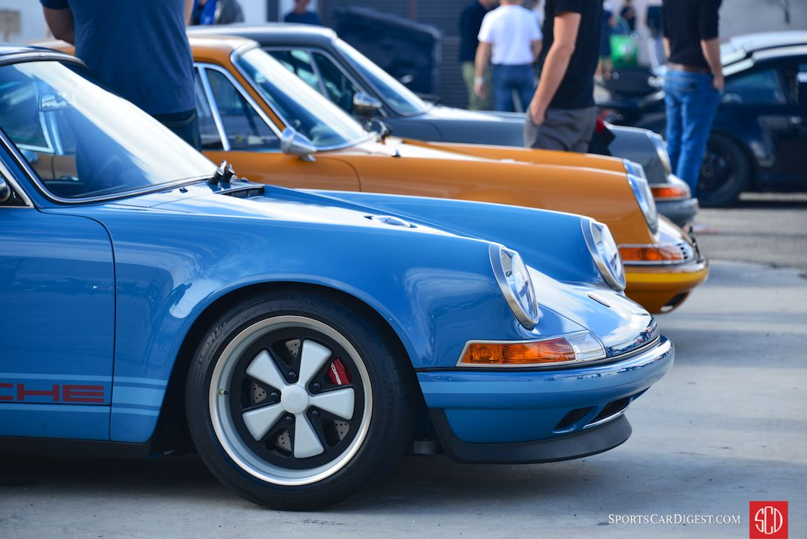 Singer Vehicle Design was on hand with some of their modified 911s (Photo: Trevor Ely)
