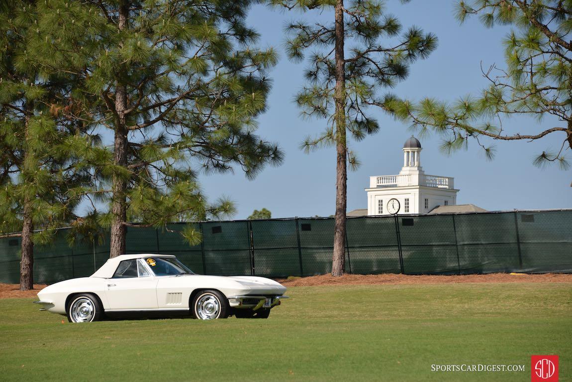 White Chevrolet Corvette looks at home on fairways of Pinehurst