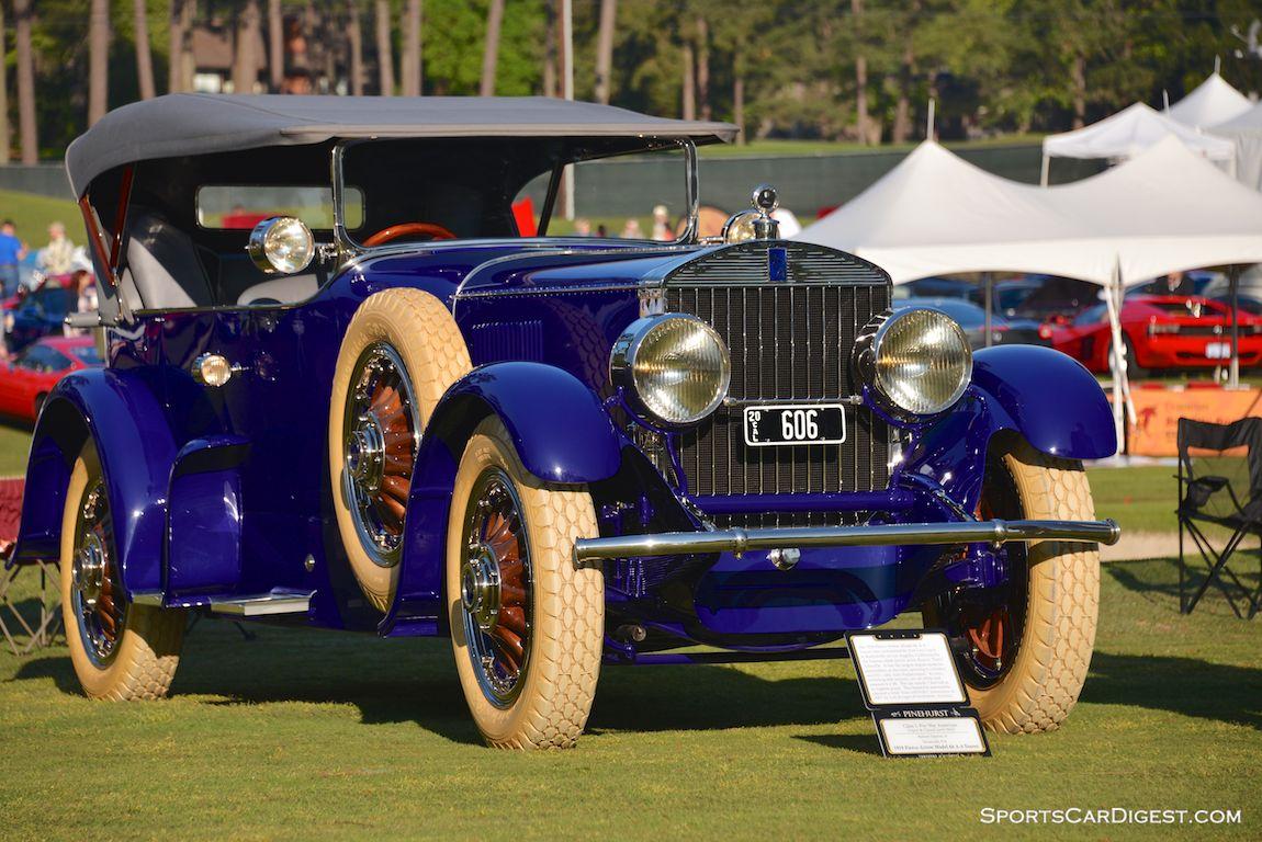 Best in Show Winning 1919 Pierce-Arrow Model 66 A-4 Tourer