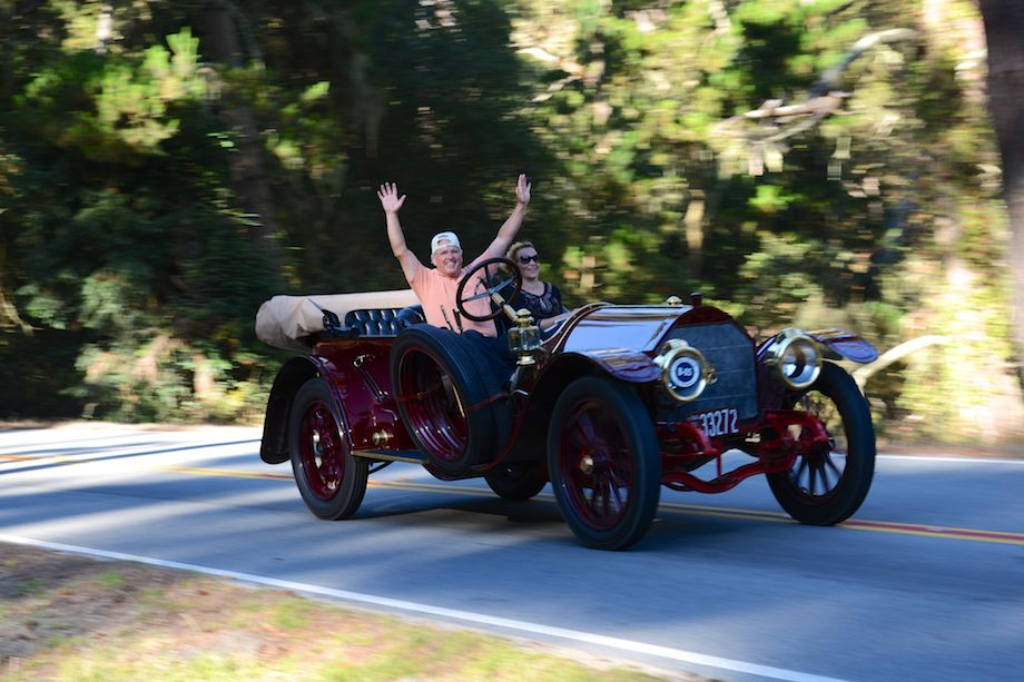 Look Ma, No Hands! Having fun in the 1912 Simplex 50 HP Quinby 5 Passenger Toy Tonneau