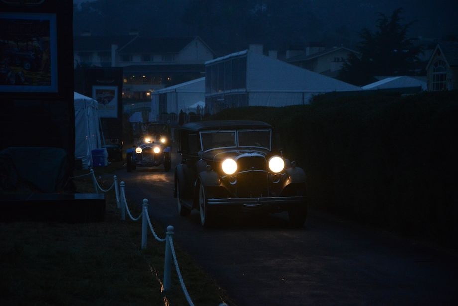 Early morning start to the Pebble Beach Concours