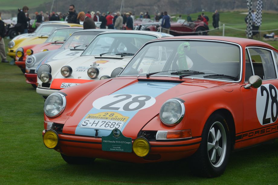 Porsche Competition Class at Pebble Beach Concours d'Elegance