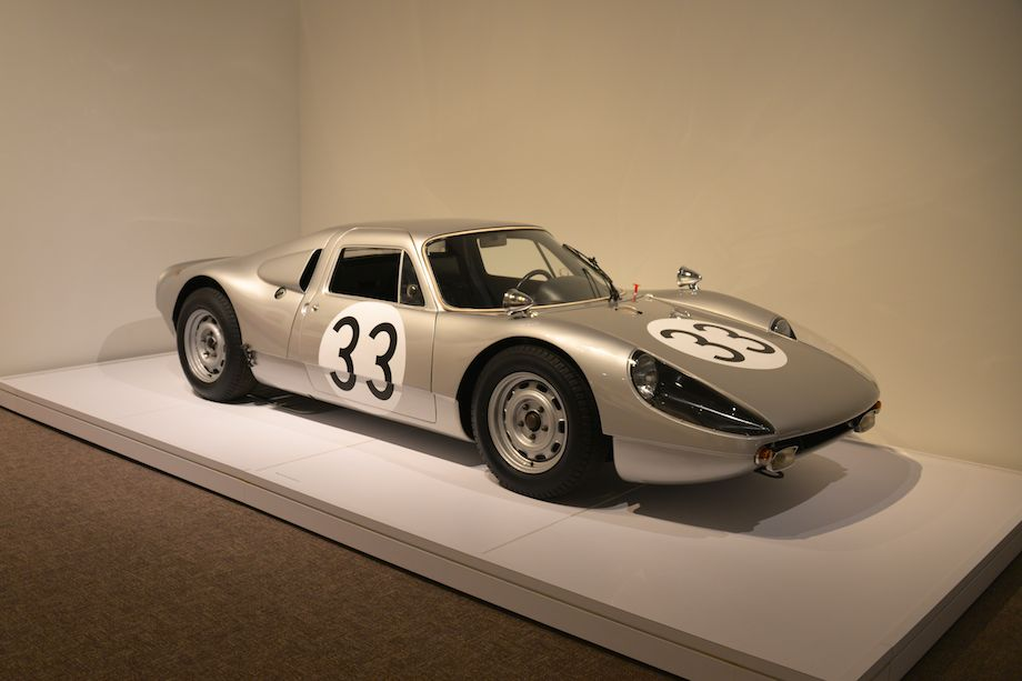 1965 Porsche 904/6, Cameron Healy and Susan Snow - this car is one of six two-liter, six-cylinder prototypes built in 1965 as Porsche factory racers. This car, serial number 906-011, was driven by Gerhardt Mitter in the 1965 Le Mans trials. That year it finished ninth at the 1,000 km of Nurburgring and won third place at the Grand Prix of Solitude.