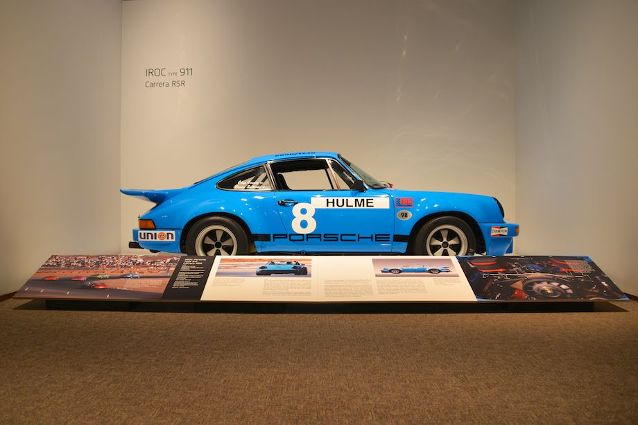 1974 Porsche 911 Carrera RSR IROC, William 'Chip' Connor - This car, chassis number 0075, originally delivered in Mexico Blue, was raced in the 1974 IROC series by Hulme, McCluskey and Pearson. Found with its original IROC engine, 0075 was restored by Hill and Vaughn, the Aase Brothers and Charles Folkes.