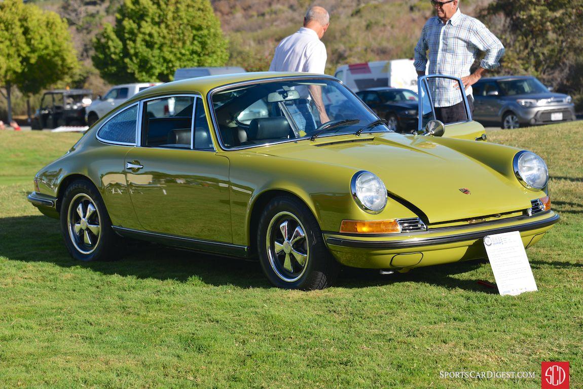 'Golden Green' 1969 Porsche 911S coupe of Jeff Lewis