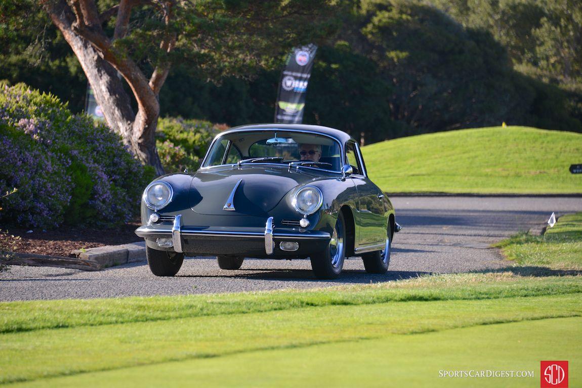 Beautiful 'Slate Grey' 356 coupe rolls into the Porsche Werks Reunion 2015