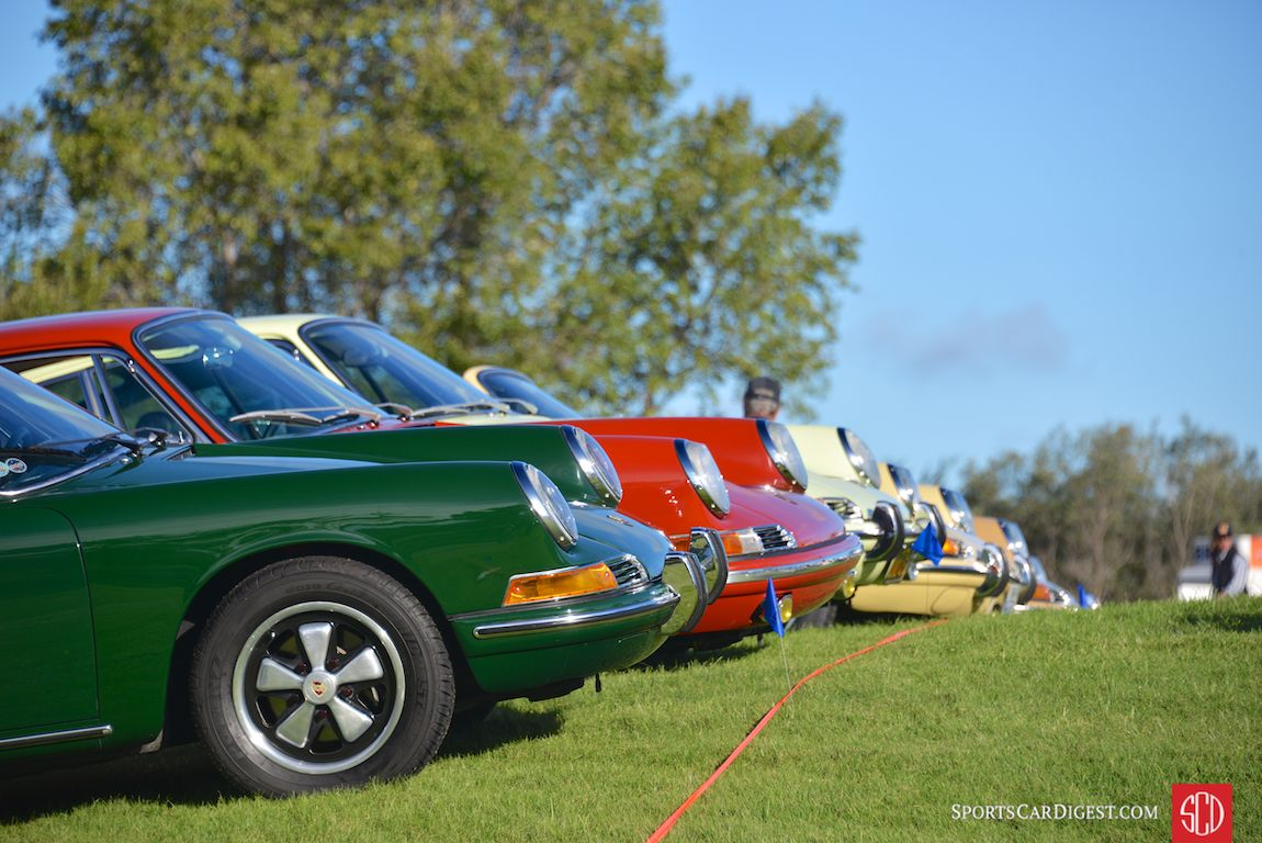 Early 911 parking at Porsche Werks Reunion 2015