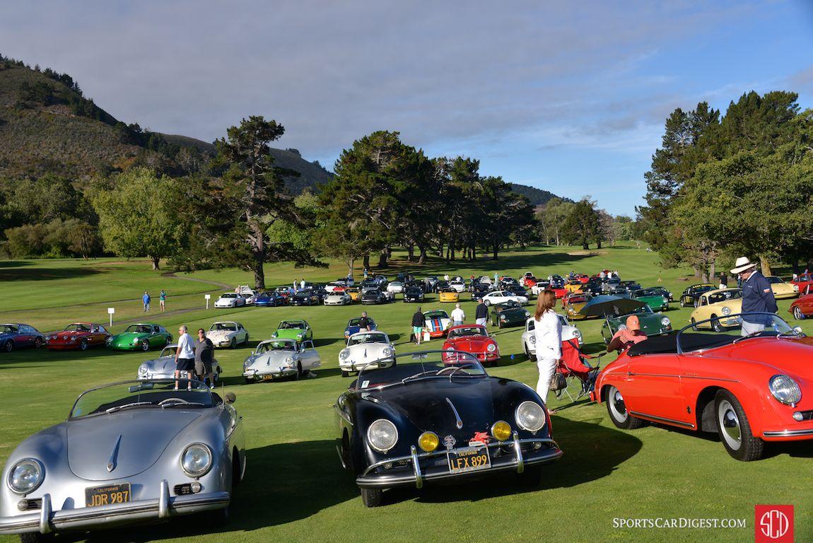 The parking lot show at Porsche Werks Reunion 2015