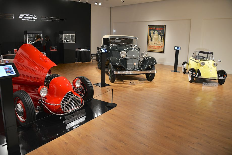 1927 Ford 'Dick Flint' Roadster, 1932 Ford V-8 Cabriolet by Pinin Farina and 1960 F.M.R. TG 500 'Tiger'