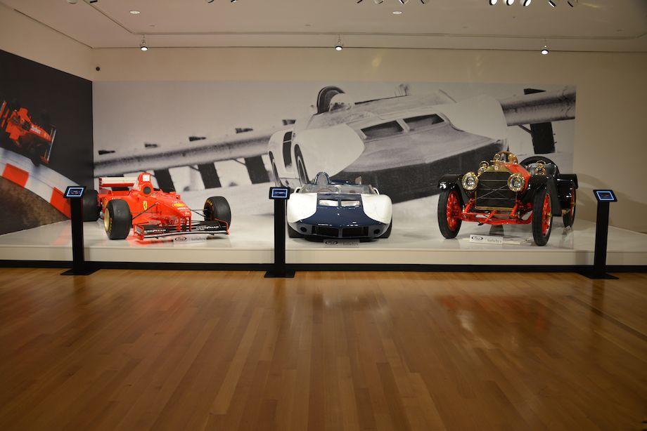 1997 Ferrari F310 B, 1964 Chevrolet CERV II and 1912 Stutz Model A Bear Cat
