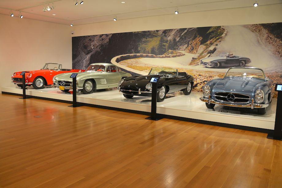 1961 Ferrari 250 GT Cabriolet Series II Cabriolet, 1955 Mercedes-Benz 300 SL Gullwing, 1966 Jaguar E-Type Series I 4.2-Litre Roadster and 1960 Mercedes-Benz 300 SL Roadster