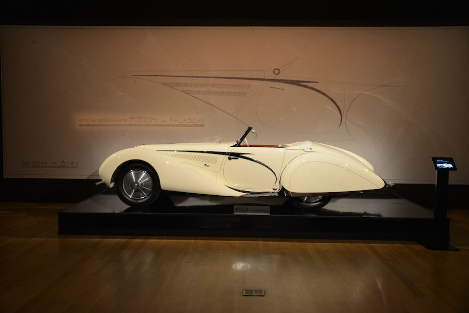 1938 Talbot-Lago T150-C SS Teardrop Cabriolet by Figoni and Falaschi