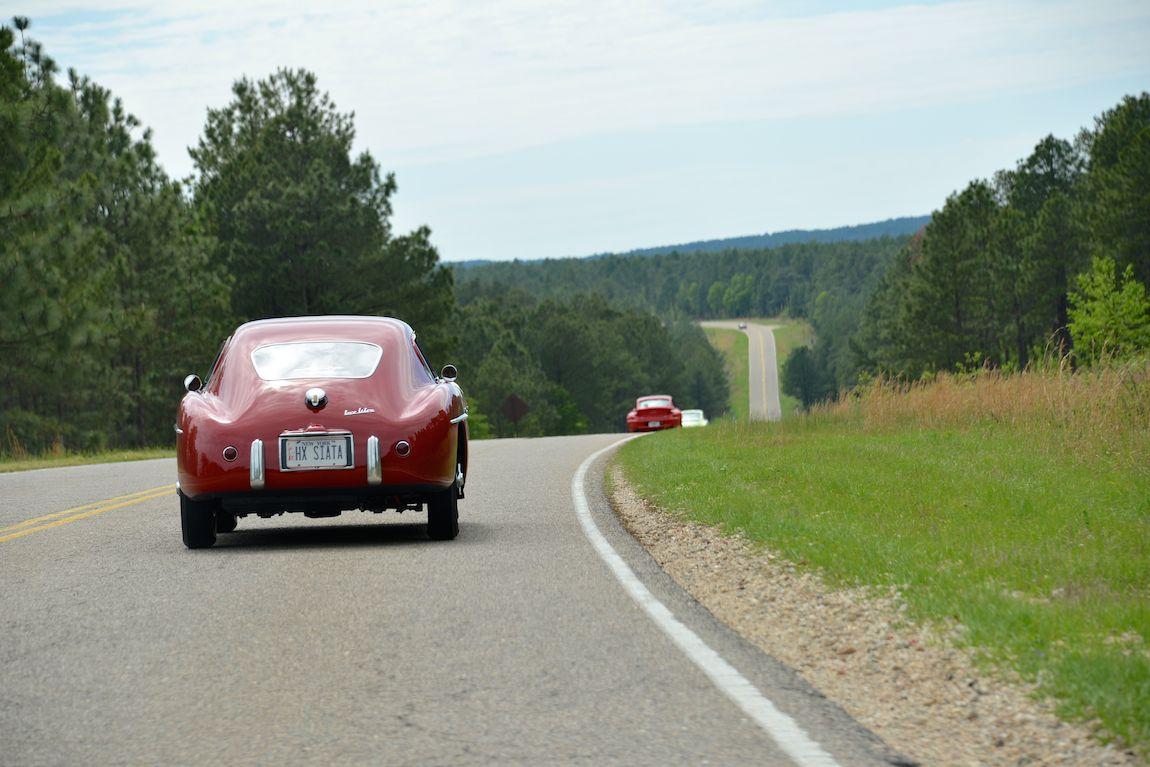 1954 Siata 208 CS on the Iron Mike Rally
