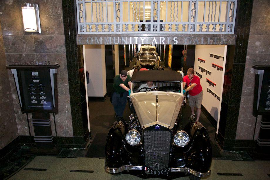 1939 Delage D8-120 Saoutchik Cabriolet - Classics filled the hallway.