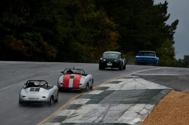 John Schrecker's 1965 Porsche 356 followed others out of Turn Five