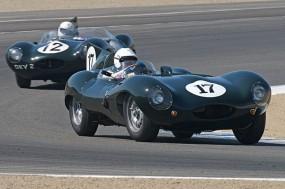Jaguar D-Types at Mazda Raceway Laguna Seca
