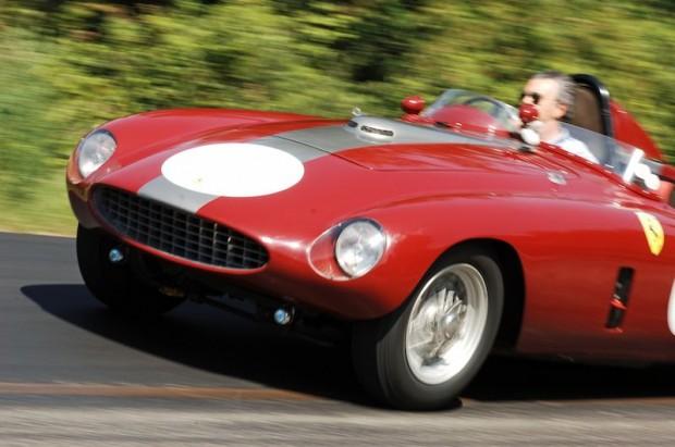 The rare Ferraris were driven with considerable verve!