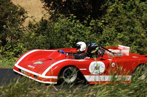 One of several Abarth prototypes present, this is Christophe Pont in an ex-Merzario 3-liter V8.