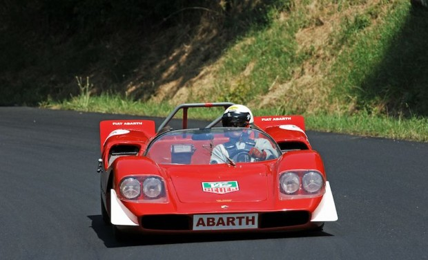 Ed McDonough was driving Pietro Silva's super-quick 1968 Abarth 2000 SP SE010, the 250 bhp car raced by Ed Wart in period.