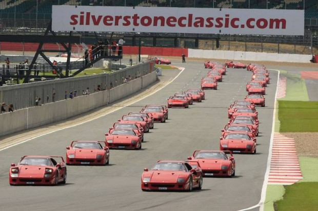 Ferrari F40 Parade at Silverstone Classic 2012