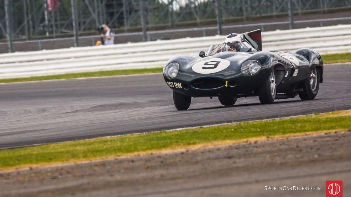 Sideways Jaguar D-Type