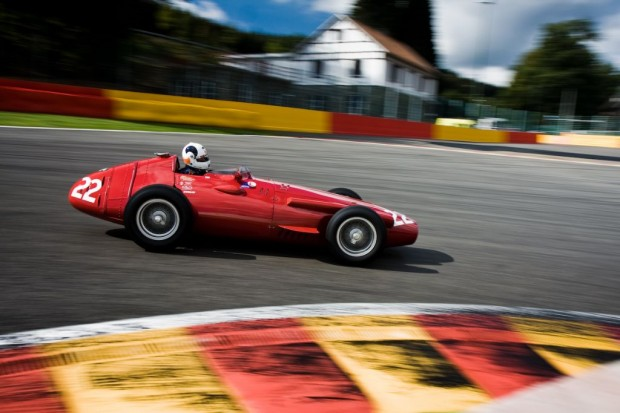 Maserati 250F La Source turn at Spa