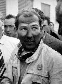 Stirling Moss fresh from his 1955 Mille Miglia Victory