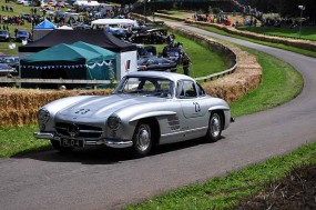 Stuart Graham, only TT winner on 2 or 4 wheels, in his Mercedes Benz Gullwing
