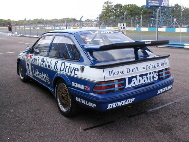 <strong>1990 Ford Sierra Cosworth RS500 Turbo – Group A</strong> - Ex-Andy Rouse built 1988-90 British Touring Car Championship (BTCC) entrant raced to 3rd in series by Tim Harvey