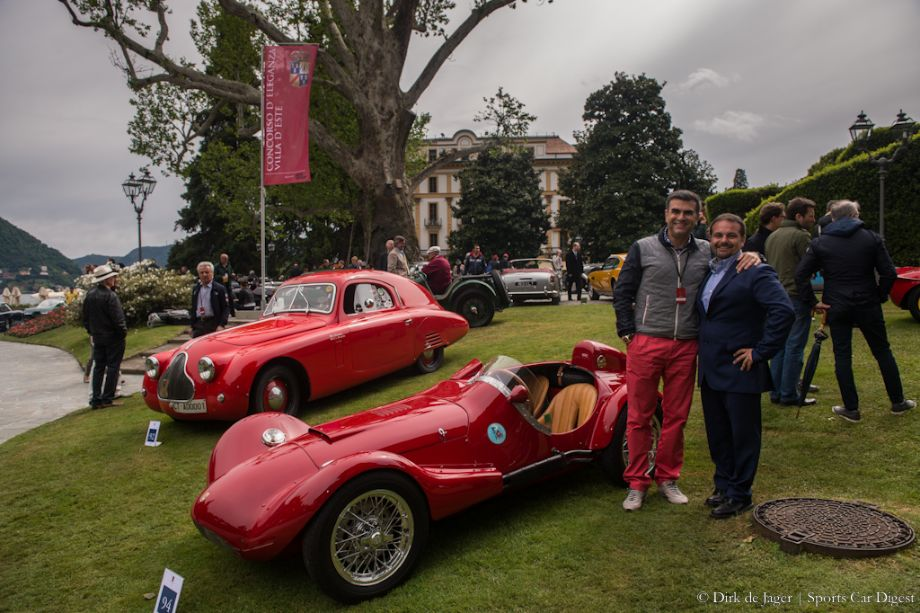 Alex Vaseos and Michele Orsi Bandini with the 1955 Bandini 750 Siluro