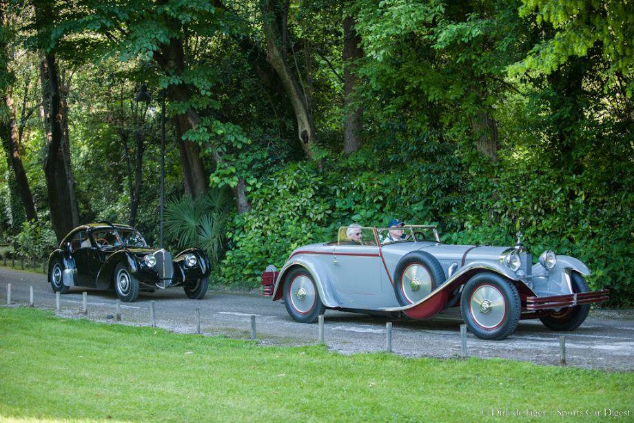 1928 Mercedes-Benz 680S Saoutchik Torpedo Roadster and 1938 Bugatti T57SC Atlantic
