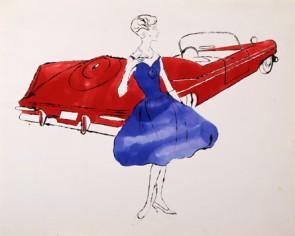 Andy Warhol Plymouth Sport Fury Convertible circa 1958.