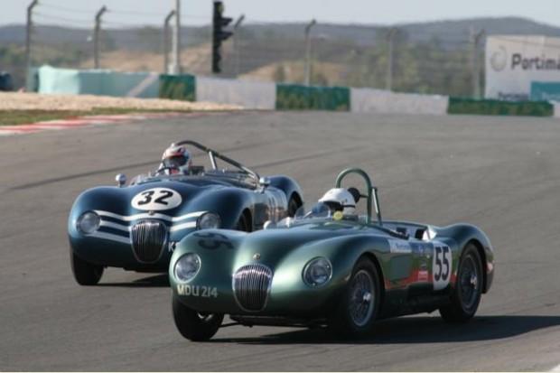 Jaguar C-Type - Nigel Webb leads the Jaguar C-Type of Richard Skipworth