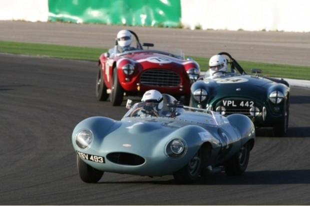 Stefan Ziegler - Jaguar D-Type leads a pair of AC Bristols