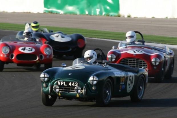 David Alborough - AC Bristol leads the AC Bristol of Alex Bell, Tony Bailey's OSCA MT4 and Tony Pickering's Jaguar D-Type