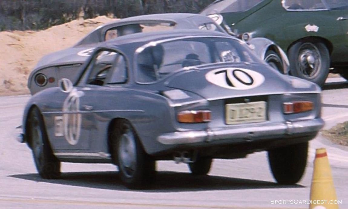The Fred Baker - Bill Kirtley Alpine A110 failed to finish due to a busted water pump.(photo: Bill Stowe)