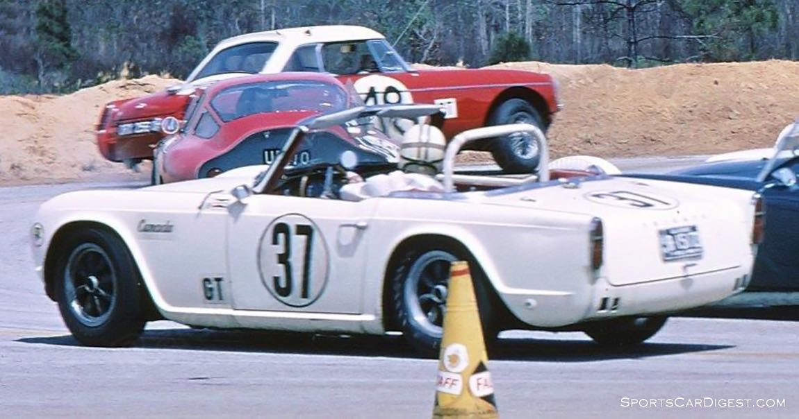 M. Barry Martin and Craig Hill drove this Triumph TR4 to 41st overall. (photo: Bill Stowe)