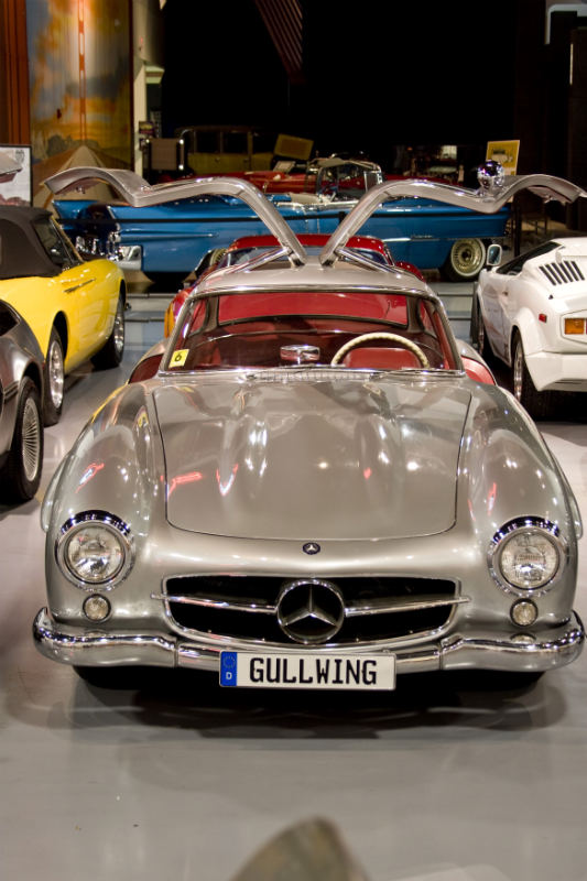 300SL Gullwing is part of the Antique Auto Museum39;s Sports Car Exhibit