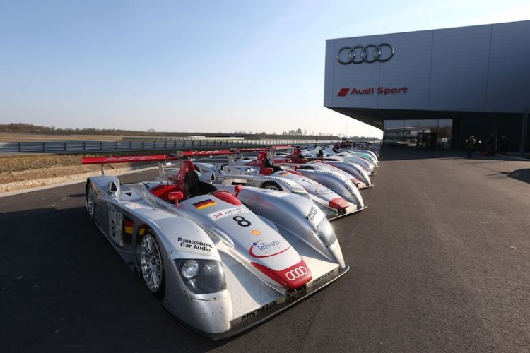 Le Mans winning Audi race cars 2000 - 2014