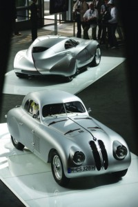 Presented at the 2007 Concorso d'Eleganza Villa d'Este, in the foreground the BMW 328 Mille Miglia Touring Coupé and in the background the 2006 BMW Concept Coupé Mille Miglia