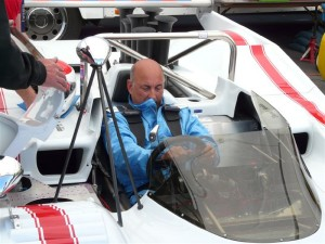Bobby Rahal prepares to race the1972 Lola T310 at the 2008 Monterey Historic Races