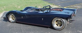 Left three quarters picture of Cosworth Vega powered sports racer
