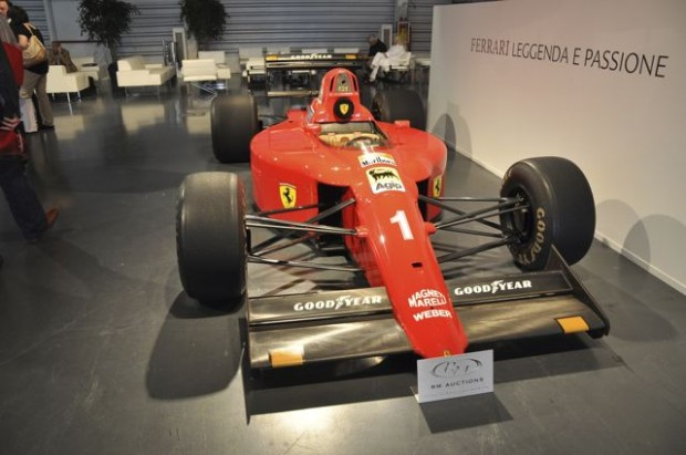 <strong>1990 Ferrari 641/2 Formula One Race Car – Estimate €300,000 - €400,000.</strong> Chassis # 121 was driving to victory at the 1990 Spanish Grand Prix by Alain Prost, plus two 3rd place and two 2nd place finishes throughout the season.