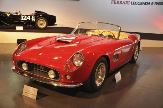 1962 Ferrari 250 GT SWB California Spyder – Estimate $5,800,000 – $7,400,000; One of 37 SWB covered headlight California Spyders.