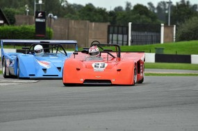 Richard Evans Chevron B19 snatches the lead at the start