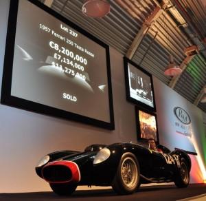 1957 Ferrari 250 TR Sold for a world record $12,402,500 at the 2009 Ferrari Leggenda e Passione auction